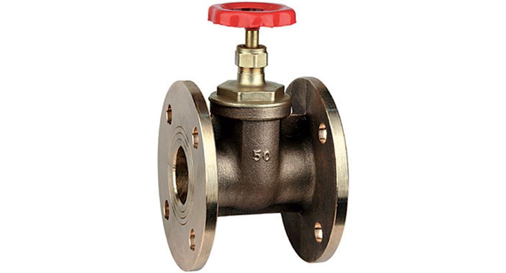 Flanged bronze gate valve PN6.