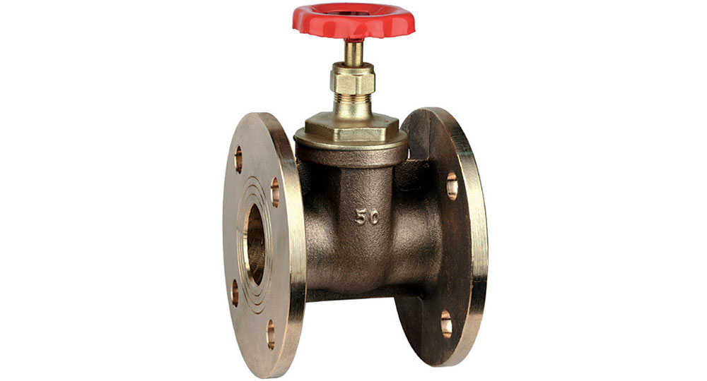 Flanged bronze gate valve PN10/16.