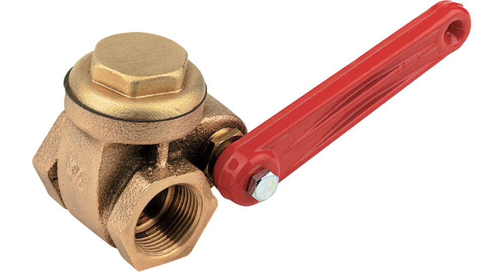 Bronze quick-locking gate valve.