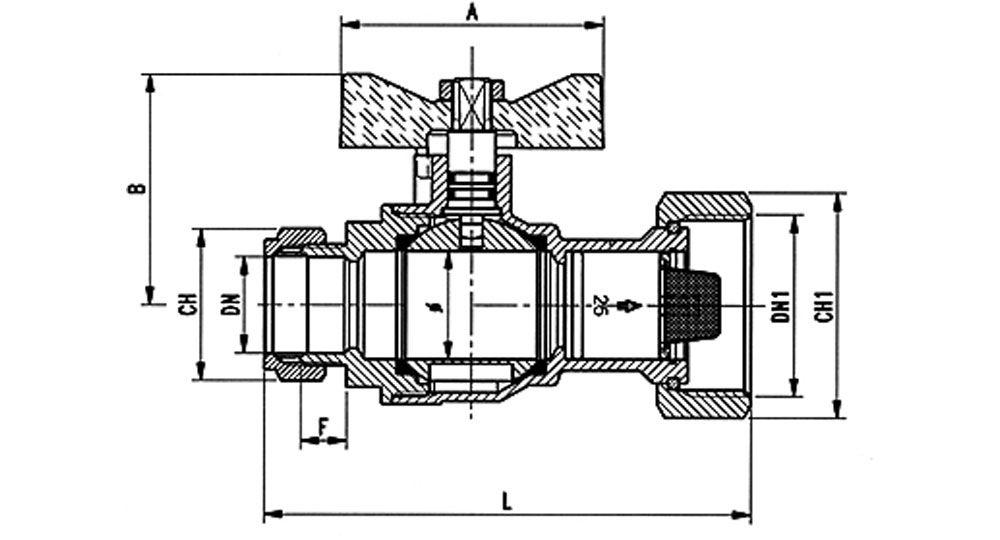 Angled ball valve with built-in strainer and check valve.  For systems which require high flow rates.