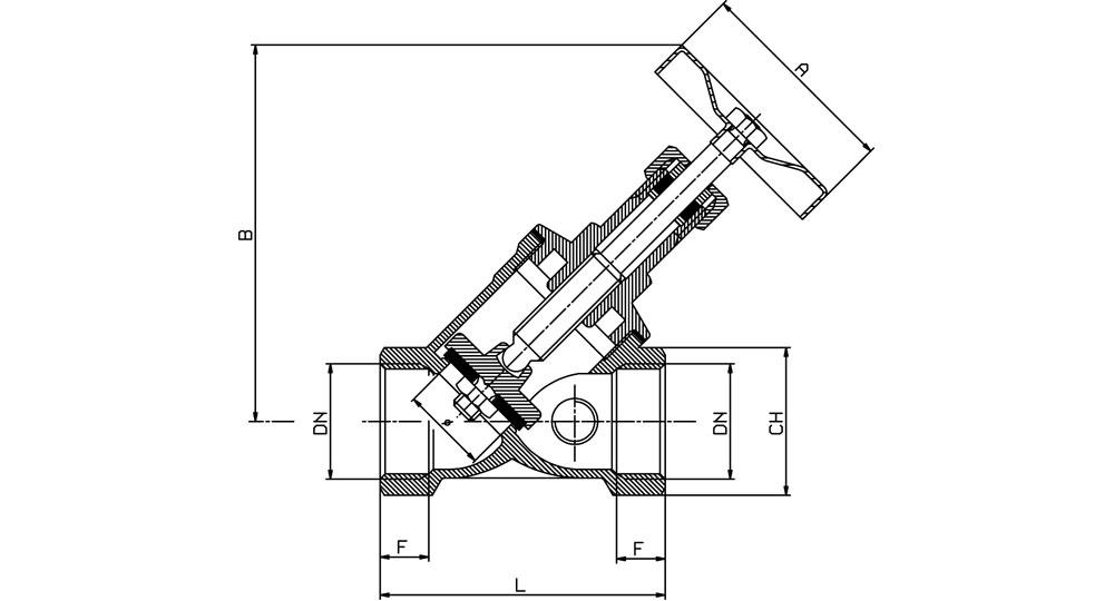 "Bronze ""Y"" valve JENKINS tightness PN 16."