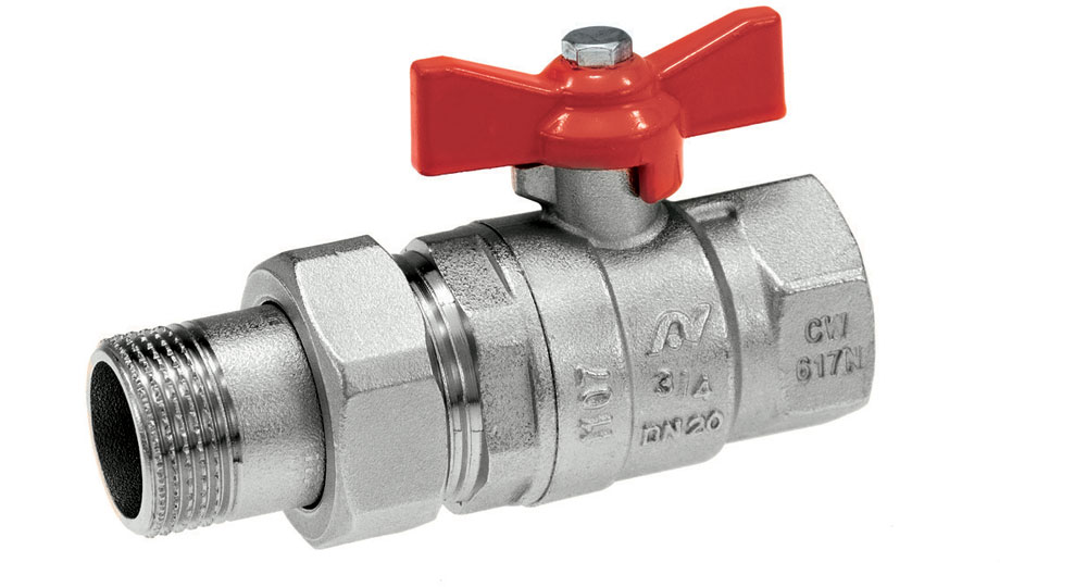 Ball valves with male connection