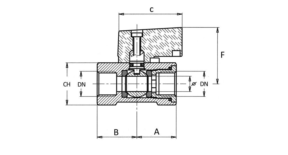 """Ball valve """"mignon"""" F.F."""