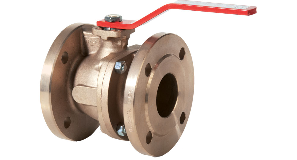 Flanged bronze ball valve PN16.