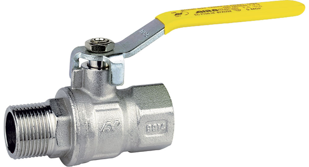 Ball valve for gas M.F. with handle (screwed iron). EN10226 THREAD