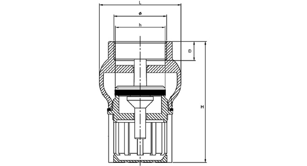 Foot valve with filter-vertical edges.
