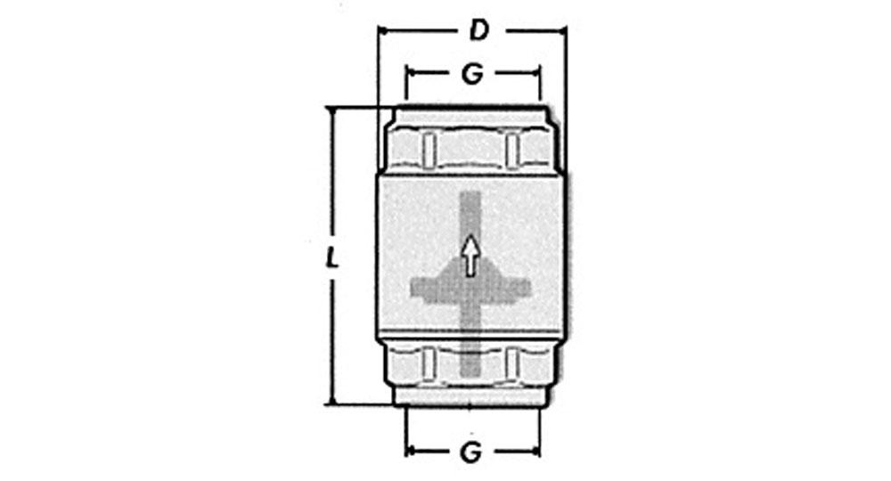 Universal check valve F.F. heavy type.