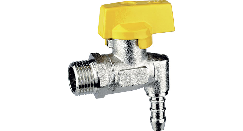 Liquid gas square cut off valve M.,hose carrier for pipe with inside ø 8 mm (UNI 7140).