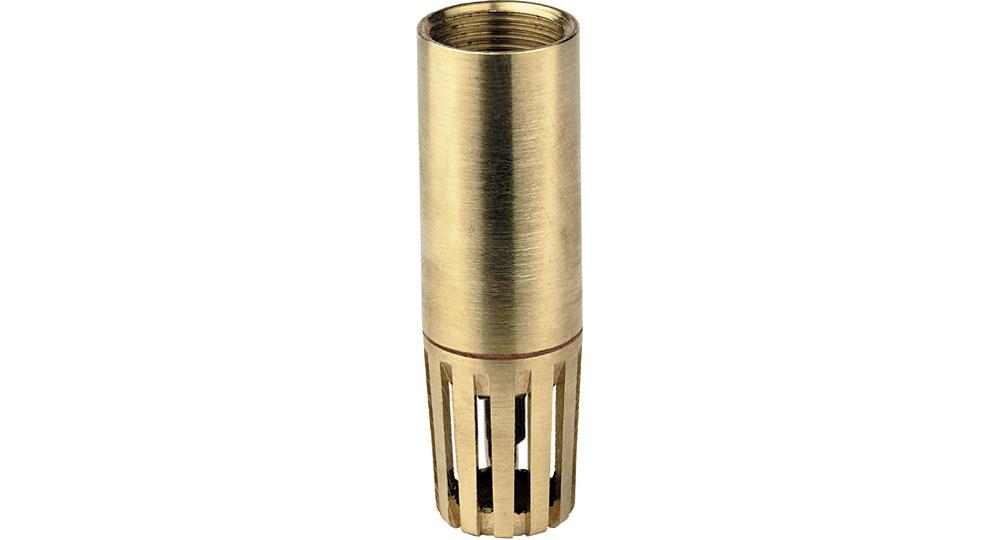 Poppetfoot valve.