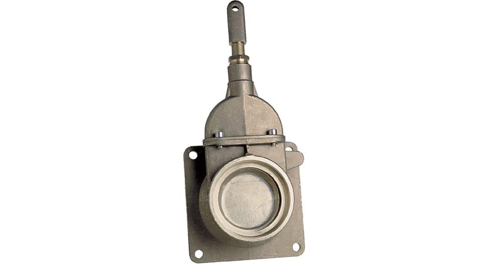 Threaded/flanged hydraulic plunger gate valve.