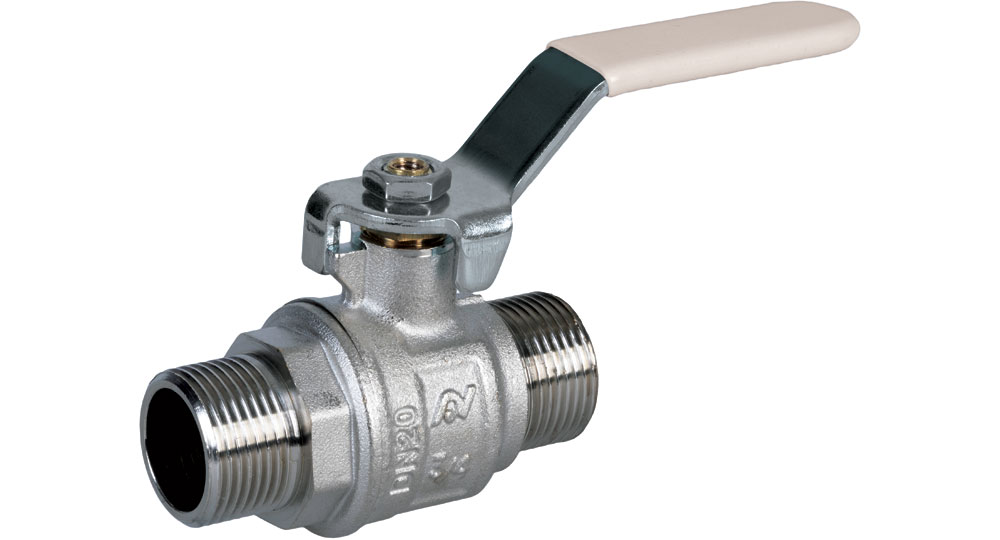 Industrial ball valve full bore M.M  with white handle (screwed iron) for oxygen. EN10226 THREAD