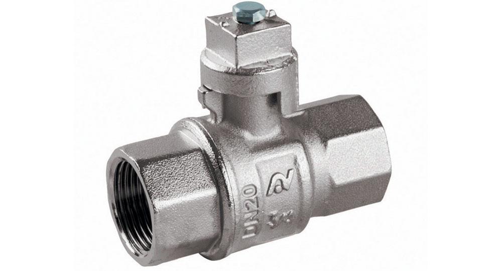 Industrial ball valve full bore F.F. with locking cap. EN10226 THREAD
