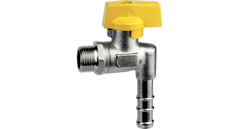 Gassquare cut off valve M.,hose carrier for long pipe with inside ø 13 mm (UNI 7140).