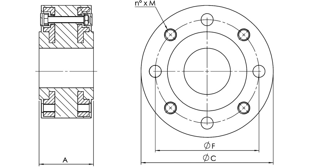 Vibration absorbing espansion joints for flanges.